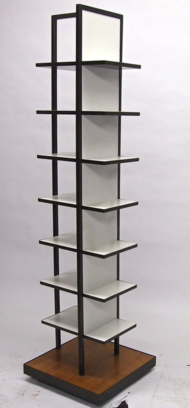 free standing shelving or display unit on casters circa. Black Bedroom Furniture Sets. Home Design Ideas