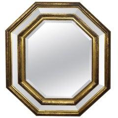 Octagonal Beveled Mirror Circa 1940 France