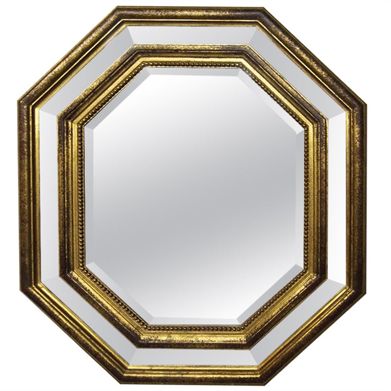 octagonal beveled mirror circa 1940 france at 1stdibs