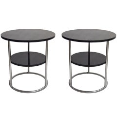 Pair of Side Tables Original Design 1930 by Thonet Made in USA, circa 1980