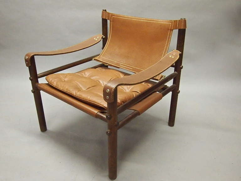 Pair Of Original Safari Chairs By Arne Norell 1960 S