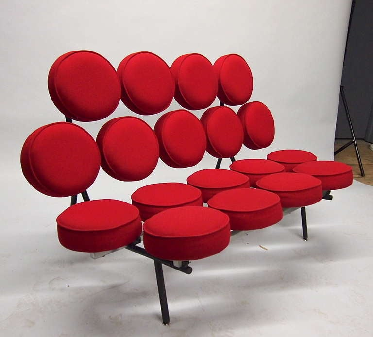 Marshmallow Sofa Signed Herman Miller By George Nelson 1980u0027s Edition  American 2
