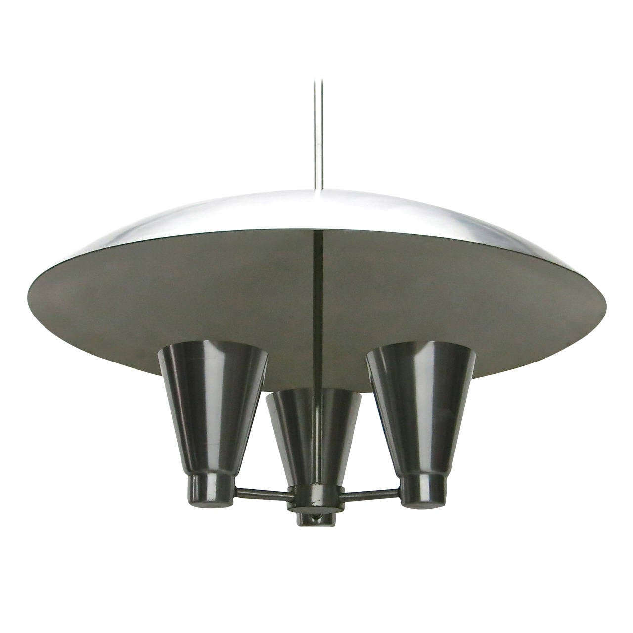 Ceiling light fixture in spun aluminum by edward wormley usa ceiling light fixture in spun aluminum by edward wormley usa 1950s 1 arubaitofo Image collections