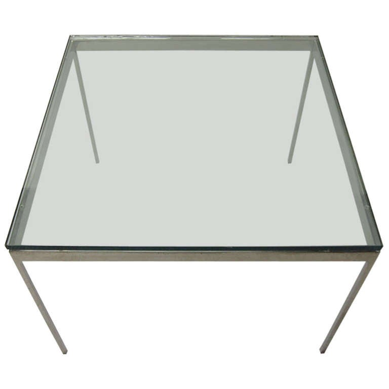 Square Solid Side Table signed Zographos by Nicos Zographos circa 1965 American