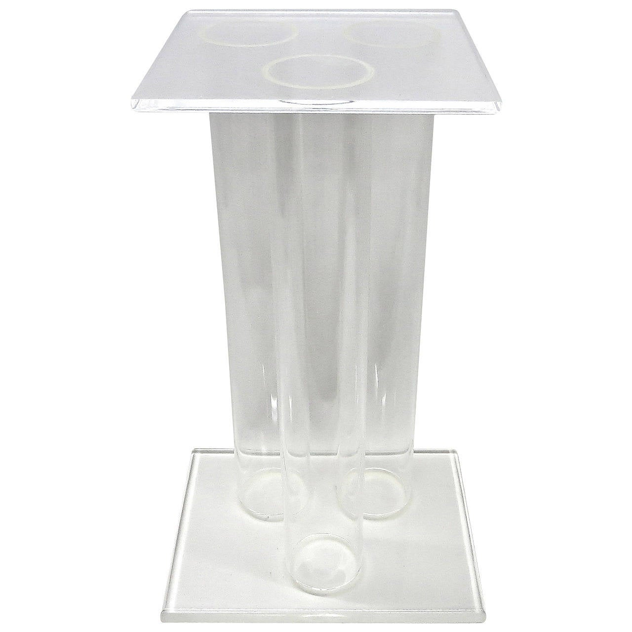 Clear Lucite Pedestal, Made in USA, circa 1975
