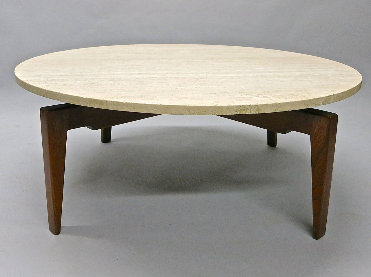 Rotating coffee table labeled jens risom design inc circa 1950 rotating coffee table labeled jens risom design inc circa 1950 american 3 geotapseo Image collections