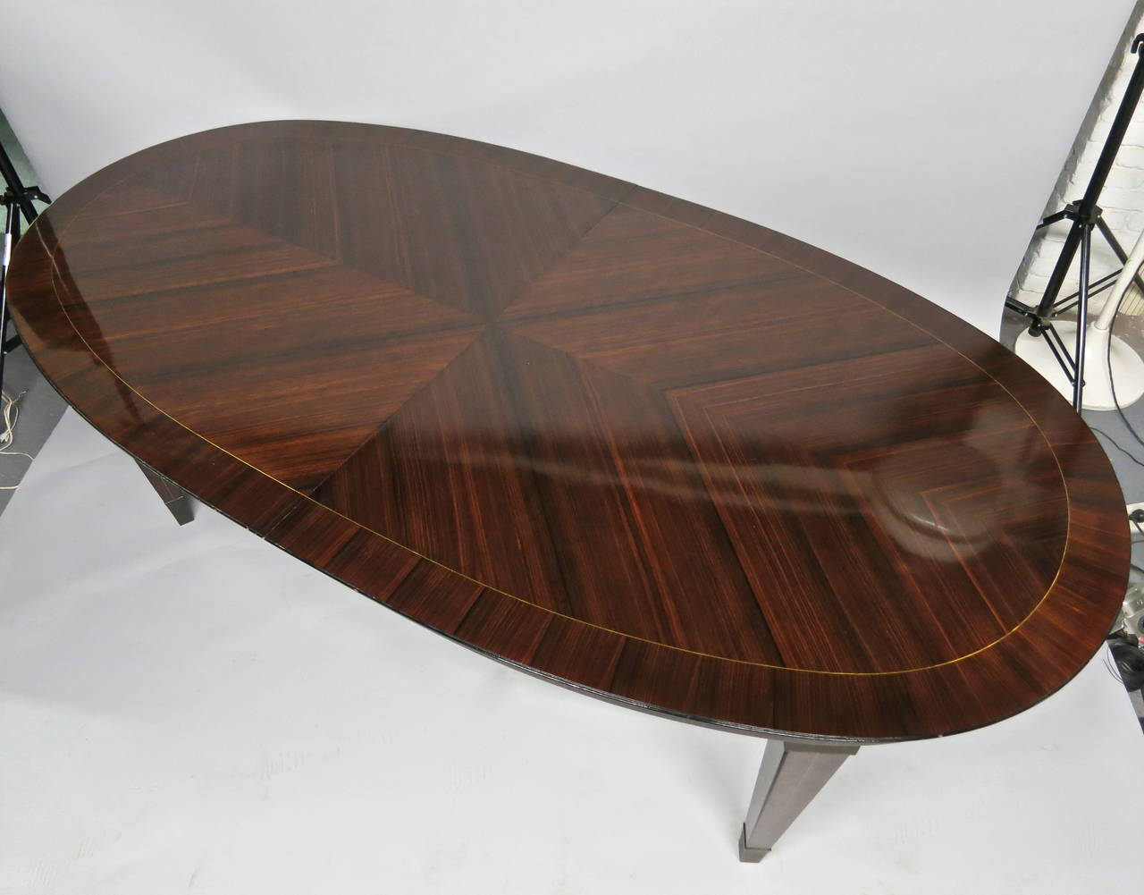 Dining Table designed by Dominique circa 1940 Design, Made in France In Excellent Condition For Sale In Jersey City, NJ