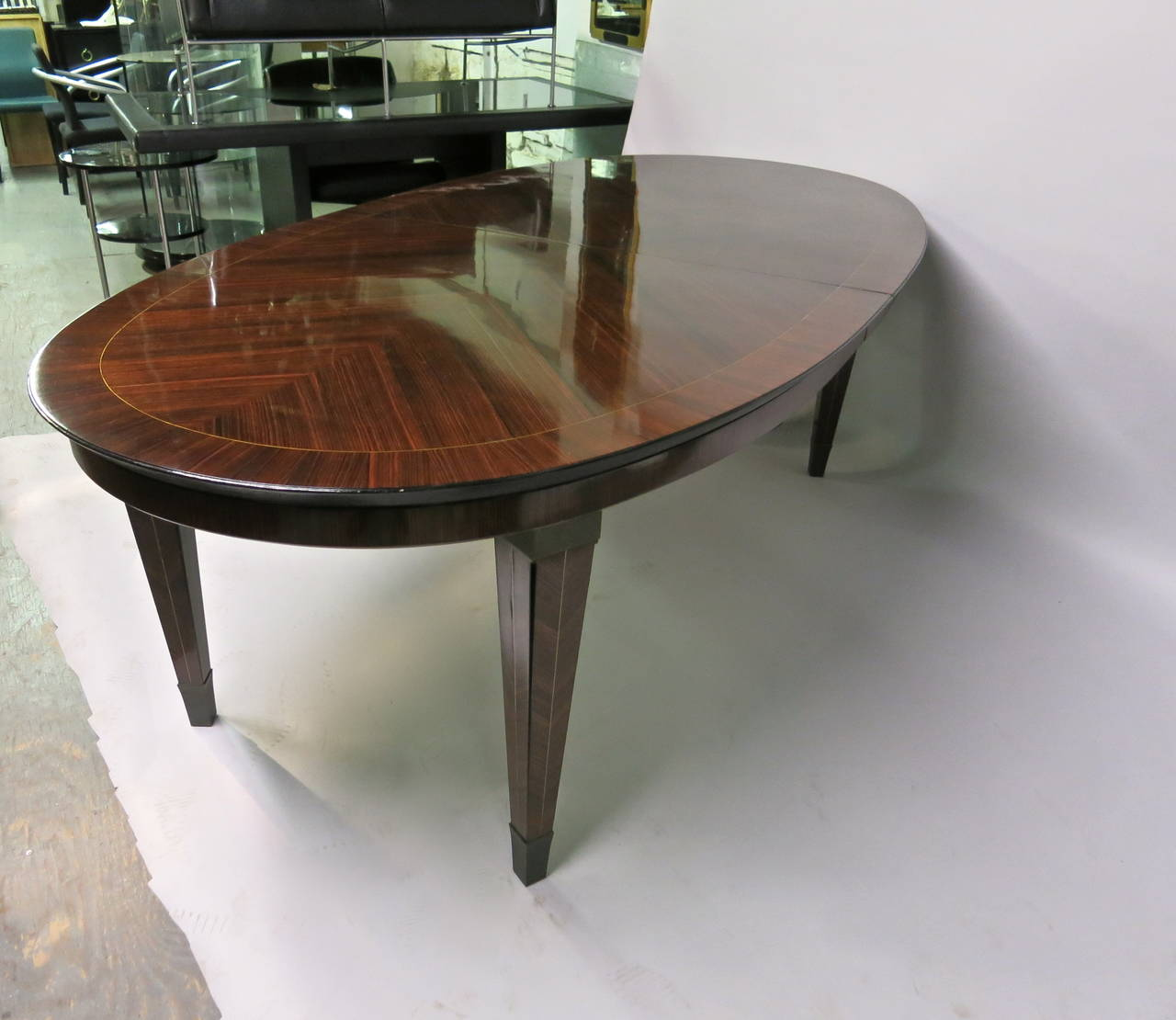 Mid-Century Modern Dining Table designed by Dominique circa 1940 Design, Made in France For Sale
