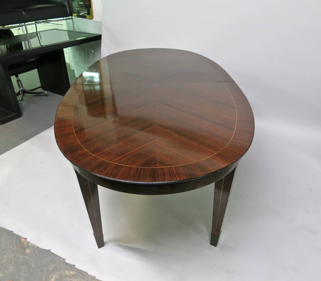 French Dining Table designed by Dominique circa 1940 Design, Made in France For Sale