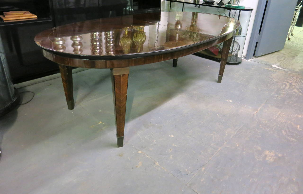 Bronze Dining Table designed by Dominique circa 1940 Design, Made in France For Sale