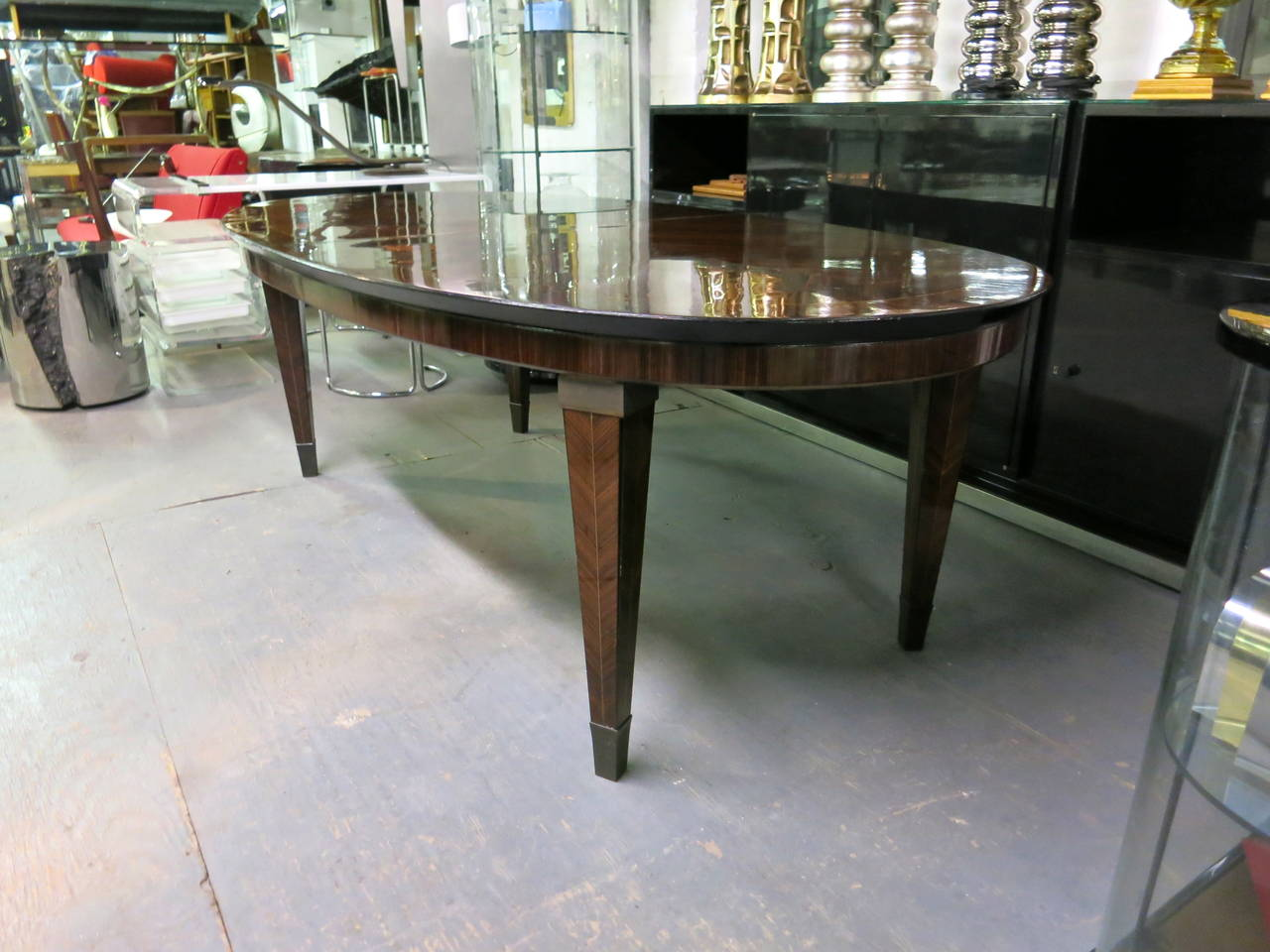 Dining Table designed by Dominique circa 1940 Design, Made in France For Sale 1