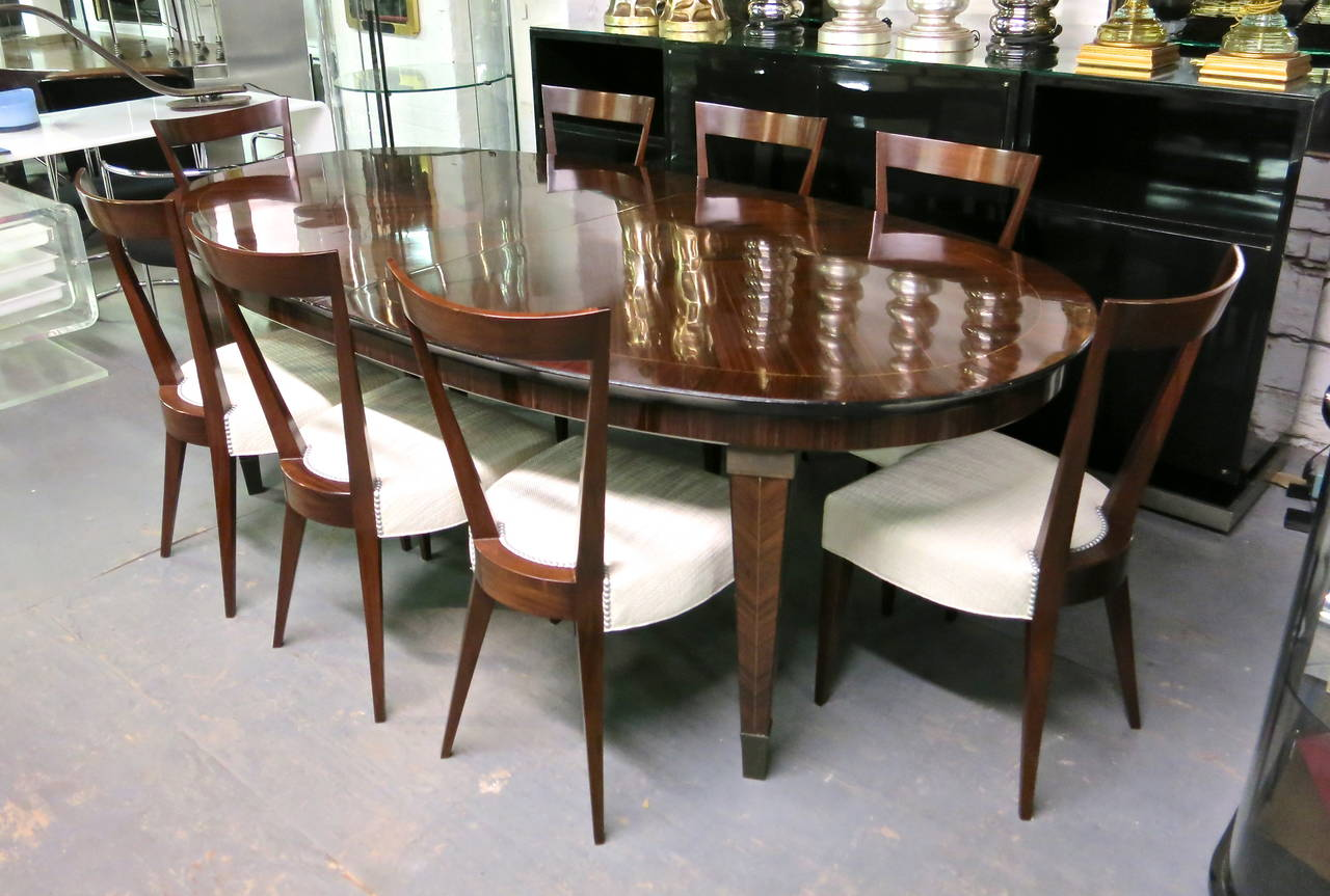 Dining Table designed by Dominique circa 1940 Design, Made in France For Sale 3