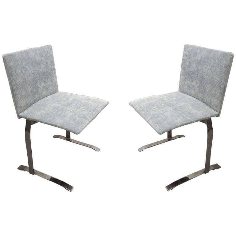 Pair Of Chairs By Giovanni Offredi For Saporiti Circa 1975