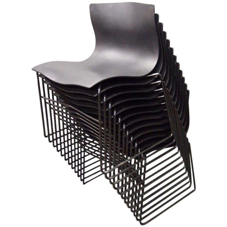 12 Stacked Handkerchief Chairs By Vignelli Design For Knoll In 1983  American For Sale