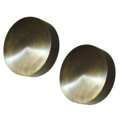 Pair of Wall or Ceiling Lights original design by Kurt Versen Circa 1954 and fabricated in America