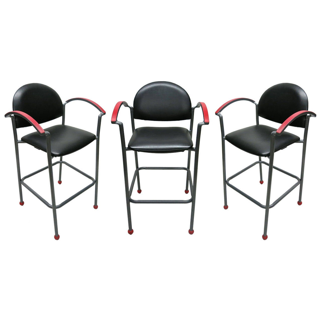 3 Barstools By Ron Kemnitzer For Fixtures Furniture Usa At