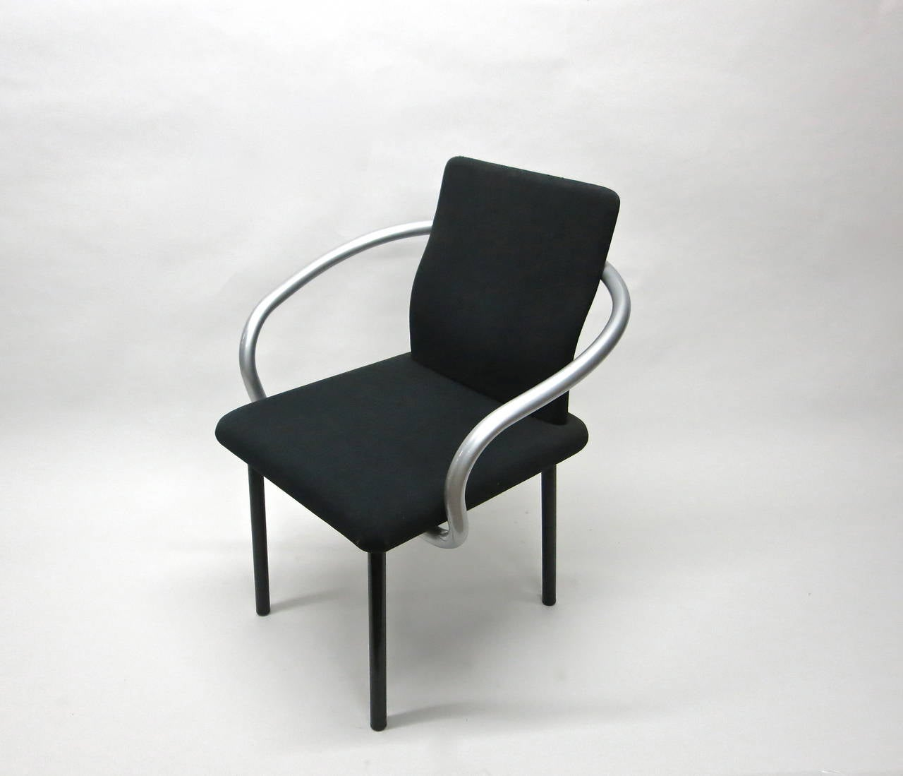 Italian Set of Six Mandarin Chairs Designed 1986 Ettore Sottsass for Knoll International For Sale