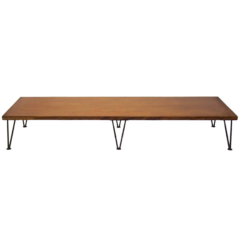 Large Low Coffee Table Original Condition Circa 1950 American At 1stdibs