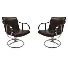 Pair of Chairs by Gardner Leaver for Steelcase Circa 1971 American