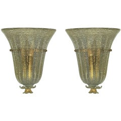 Pair of Sconces by Barovier circa 1945 Italy