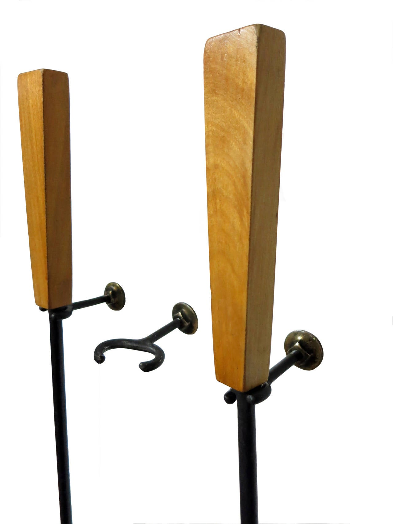 Set Of Wall Mount Fire Tools Circa 1950 For Sale At 1stdibs