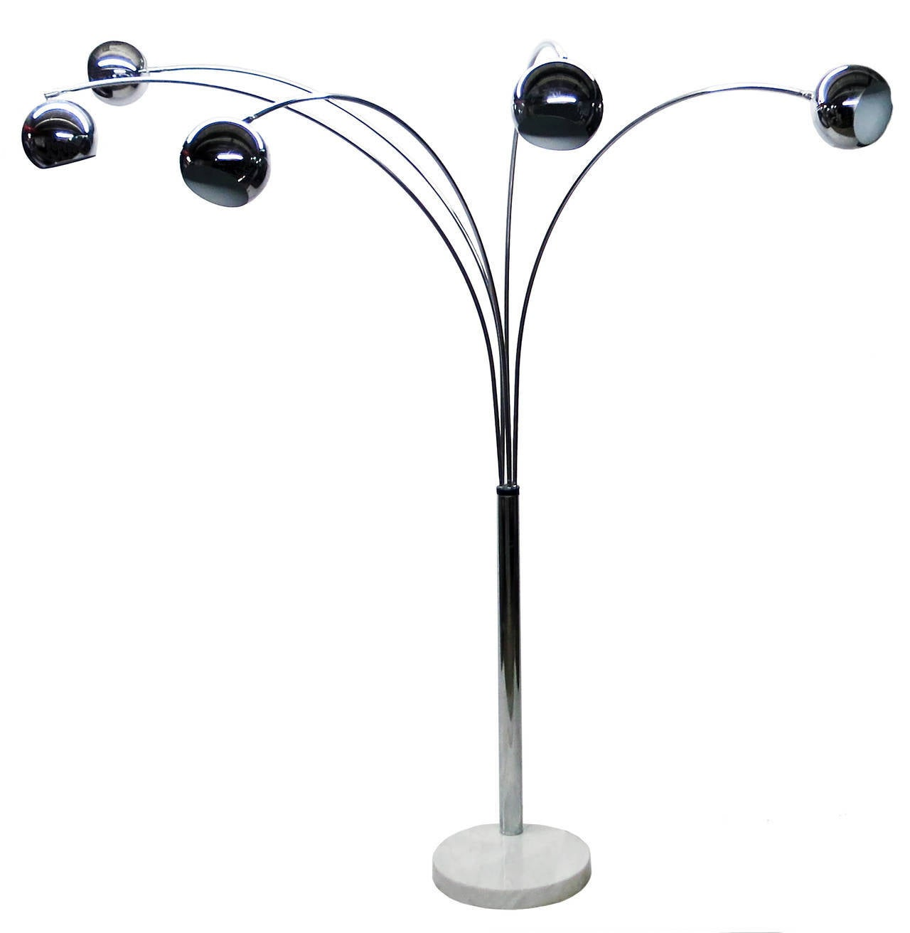 five arm arc floor lamp circa 1970 italy at 1stdibs. Black Bedroom Furniture Sets. Home Design Ideas
