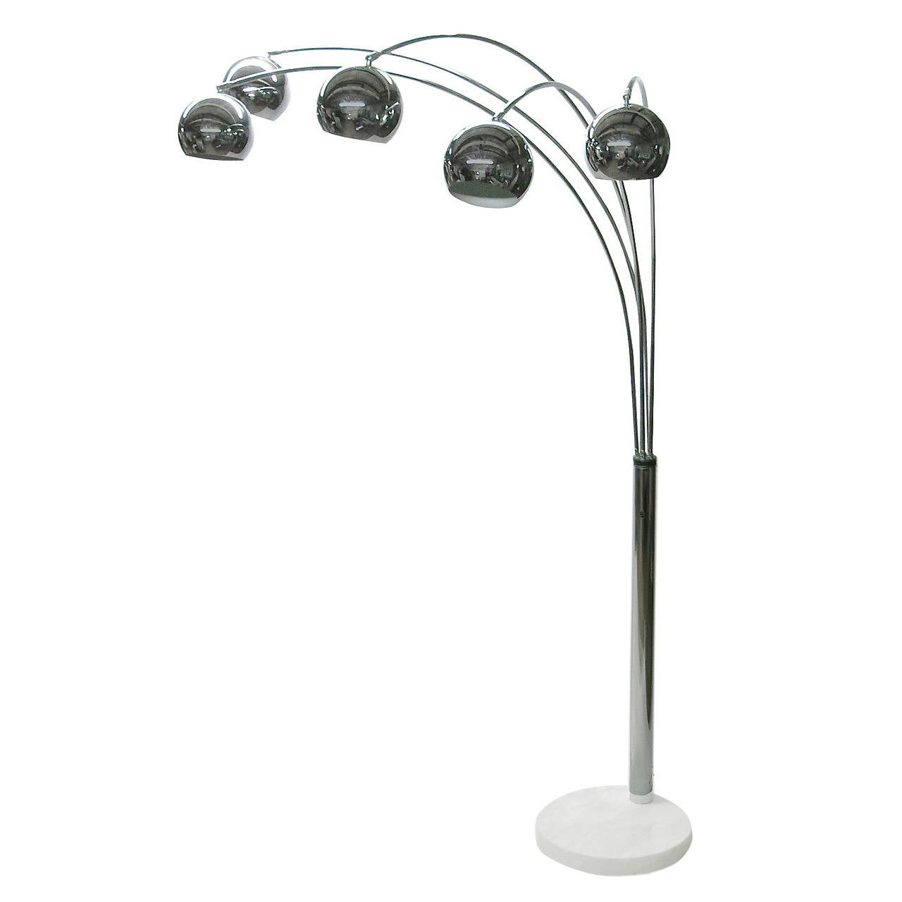 3 Arm Arc Floor Lamp >> Five-Arm Arc Floor Lamp, circa 1970, Italy at 1stdibs