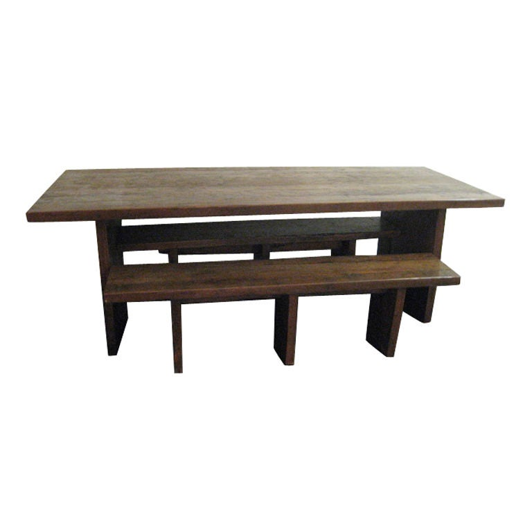 DINING TABLE WITH BENCHS INDONESIAN at 1stdibs : XXX807312767302161 from www.1stdibs.com size 768 x 768 jpeg 28kB
