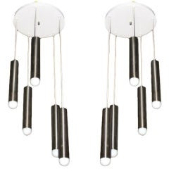 Pair of Ceiling Fixtures circa 1970 American