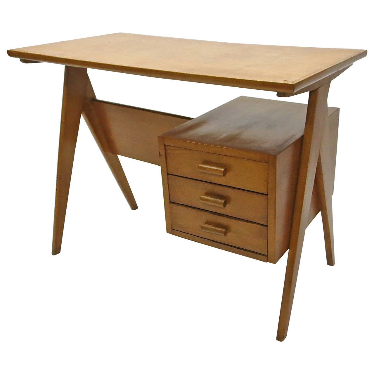 Childs Desk Attributed To Gio Ponti Original Condition Italy Circa 1950 For