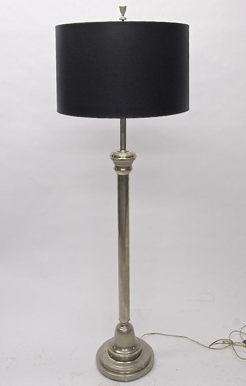 Floor lamp in nickel over bronze circa 1930 at 1stdibs for 1930 floor lamps