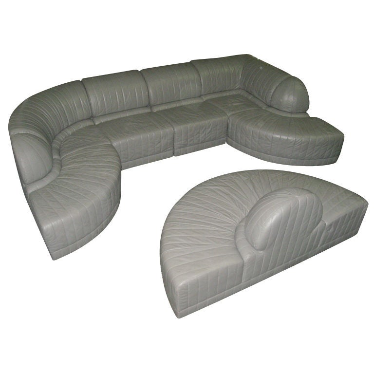 sectional sofa by roche bobois 1985 italy at 1stdibs