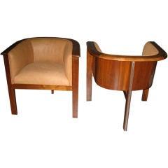 Pair of Chairs by Hans Von Klier Italian circa 1965