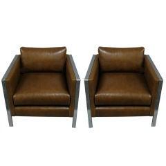 Pair of Chairs by Milo Baughman American Circa 1970