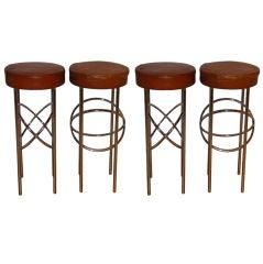 Set of Four Barstools by James Mont for Doris Duke