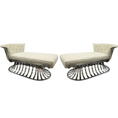 Pair of Chaise Lounge  by Russell Woodard American 1960's