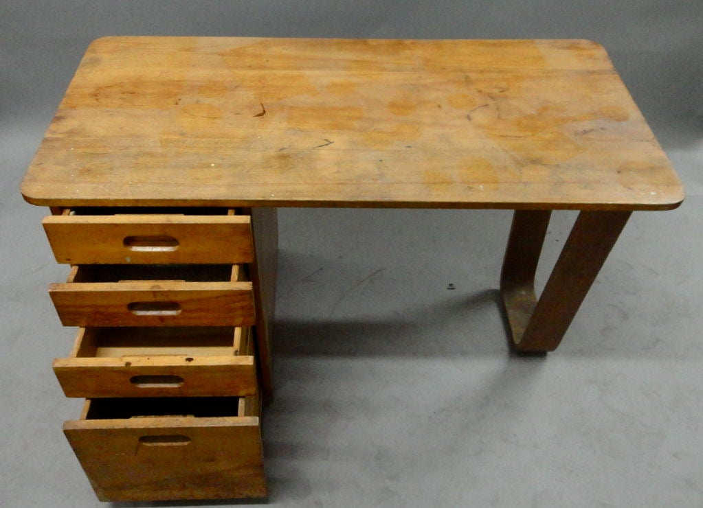 Marcel Breuer Desk for Rohdes Hall Bryn Mawr College at 1stdibs
