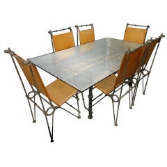 Set of Dining Table and Chairs by Ilana Goor Israeli 1980's