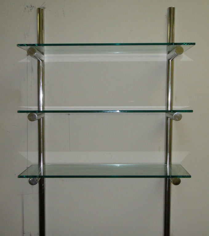 pair of wall mounted shelving units american 1980 39 s at 1stdibs. Black Bedroom Furniture Sets. Home Design Ideas