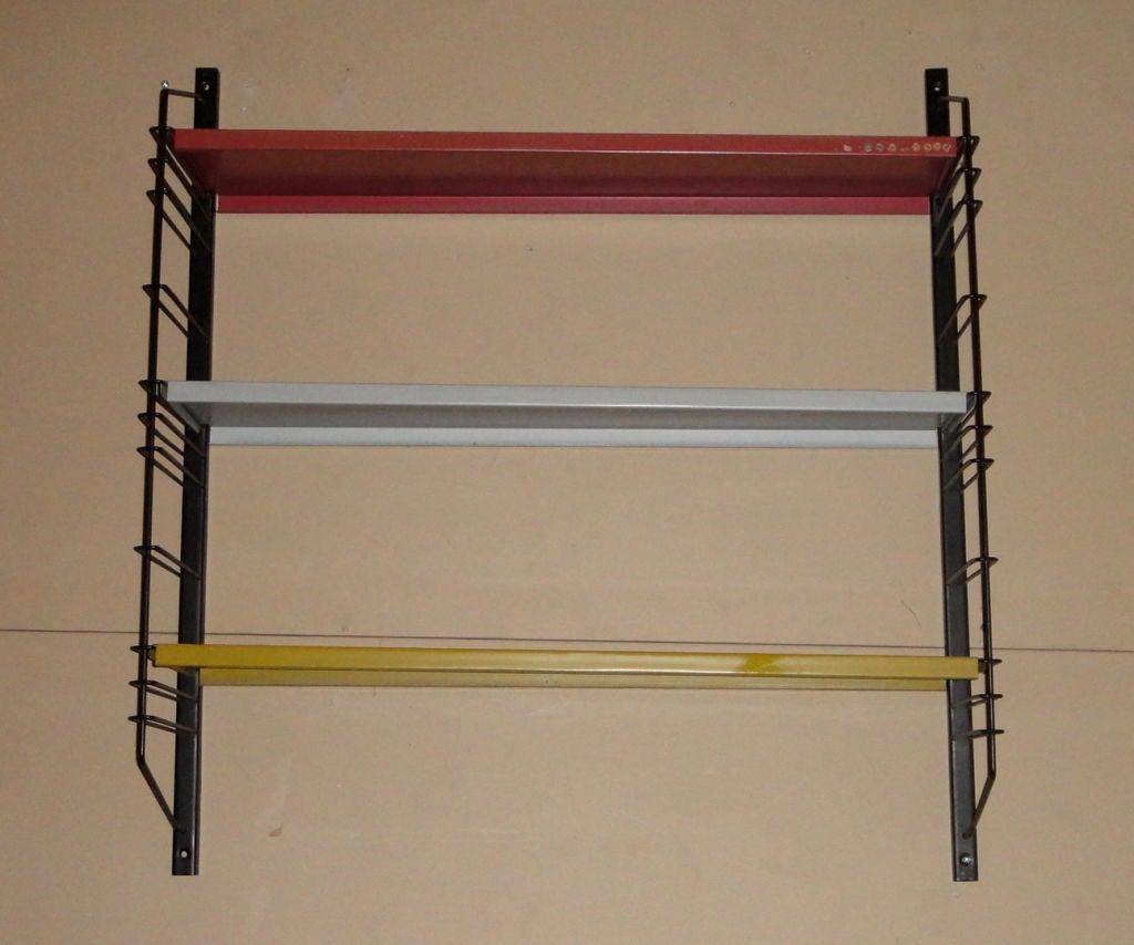 wall mounted shelving unit by drentea dutch circa 1960 at. Black Bedroom Furniture Sets. Home Design Ideas