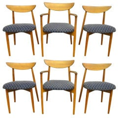 Dining Chairs set of six by Harry Ostergaard Denmark Circa 1960