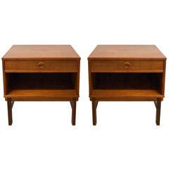 Pair of Night/Side Tables by Folke Ohlsson for Dux, both Stamped DUX made in Sweden circa 1960