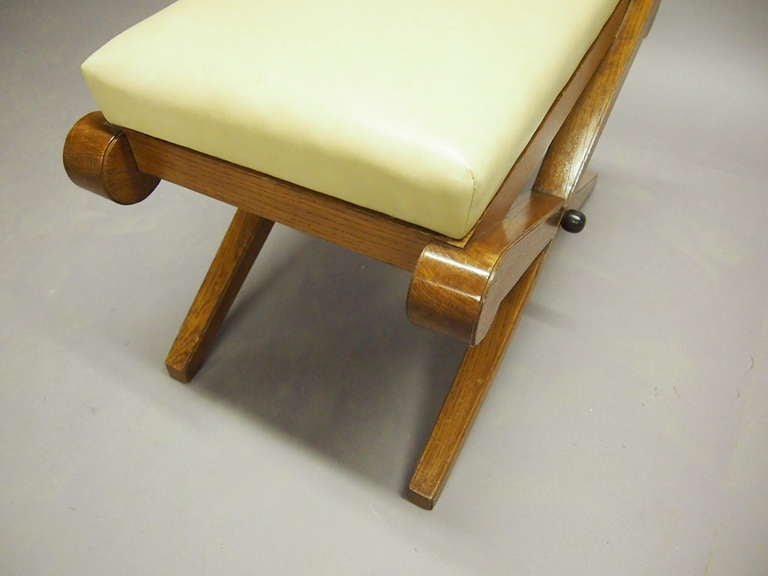 X Leg Bench In Oak After Maxime Old Circa 1940 France At 1stdibs