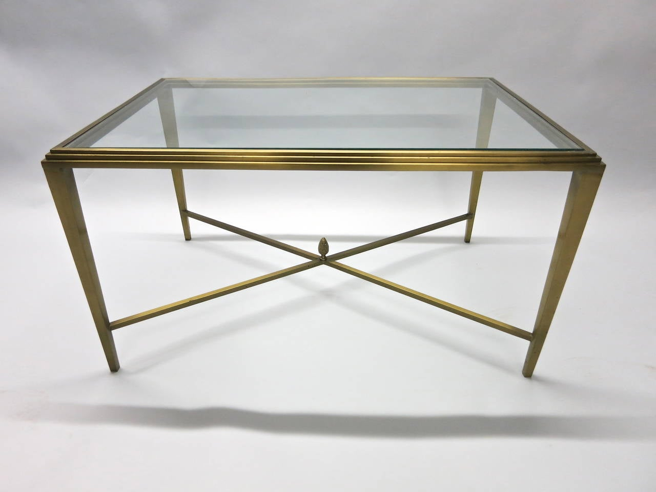Coffee Table In Solid Brass Nyc Circa 1985 For Sale At 1stdibs