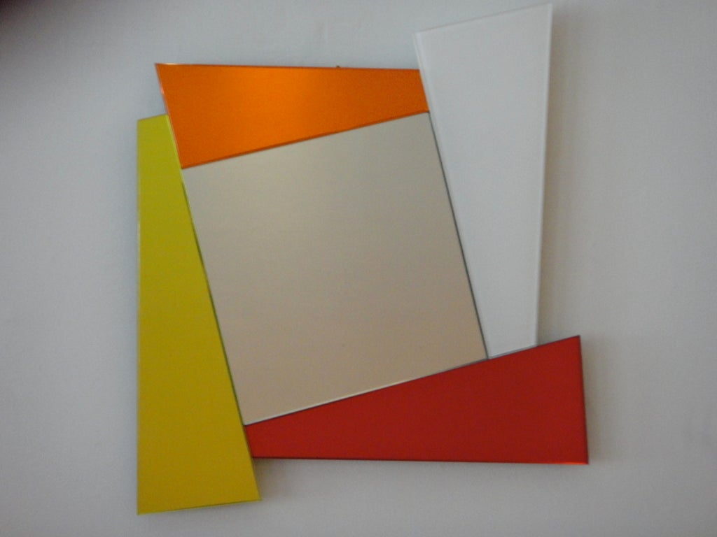 """Mirror Signed by """"Ettore Sottsass Produced by Glas Italia"""" Italy 2007 2"""