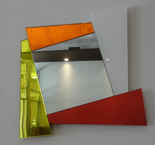"""Mirror Signed by """"Ettore Sottsass Produced by Glas Italia"""" Italy 2007 3"""