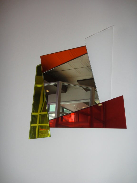 """Mirror Signed by """"Ettore Sottsass Produced by Glas Italia"""" Italy 2007 6"""