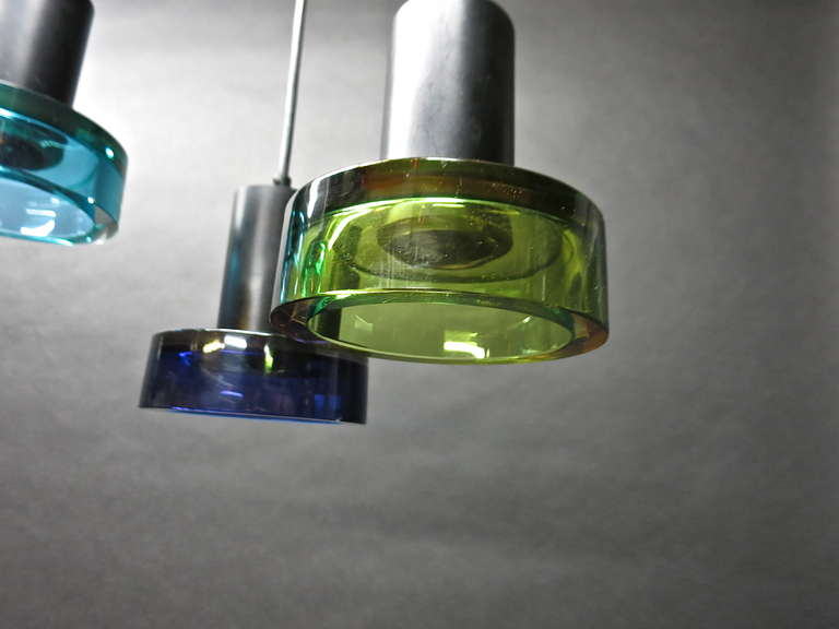 Hand-Crafted Glass Ceiling Fixture by Flavio Poli for Seguso, Italy Circa 1950 For Sale