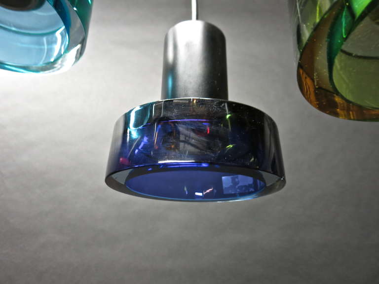 Glass Ceiling Fixture by Flavio Poli for Seguso, Italy Circa 1950 In Excellent Condition For Sale In Jersey City, NJ