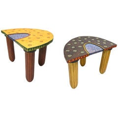 Pair of Tables Both Signed by Fabiane Garcia, 1992